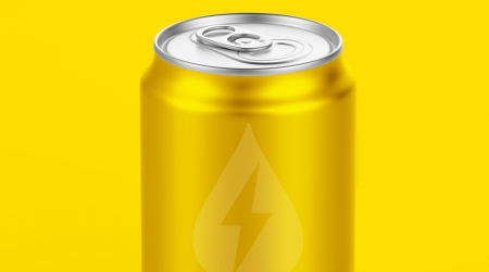 Energy Buzz branding - on a can!